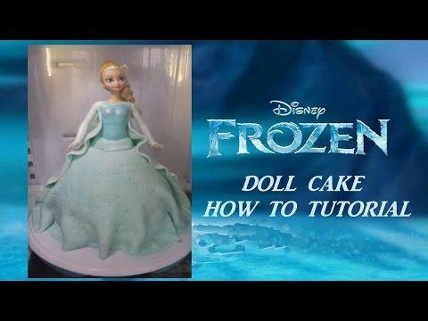 Disney Frozen princess Elsa Doll Cake How to video