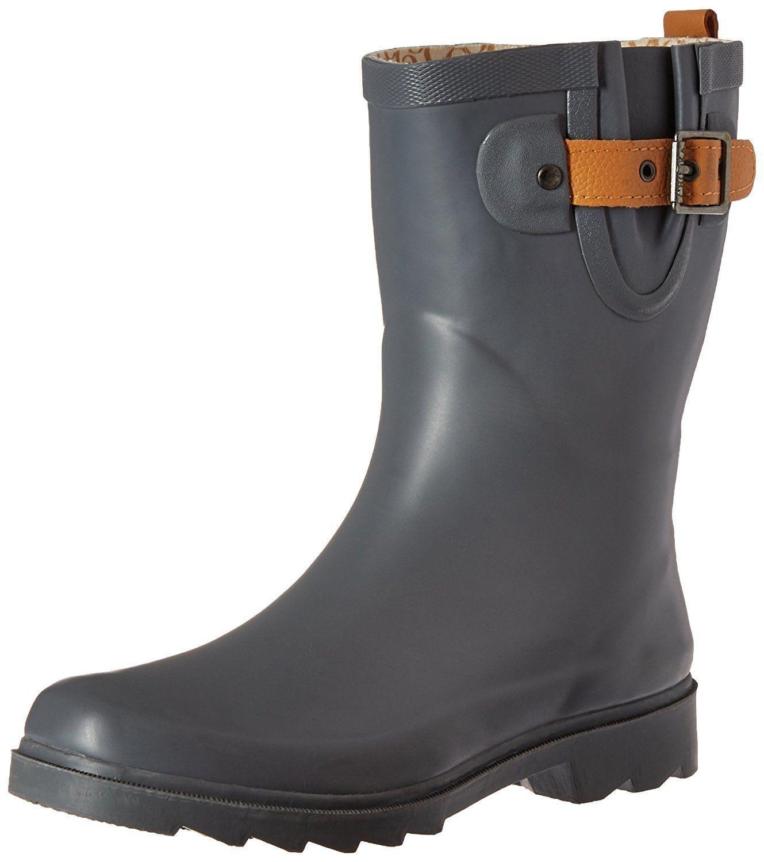Womens' Waterproof Top Solid Mid Rain Boot