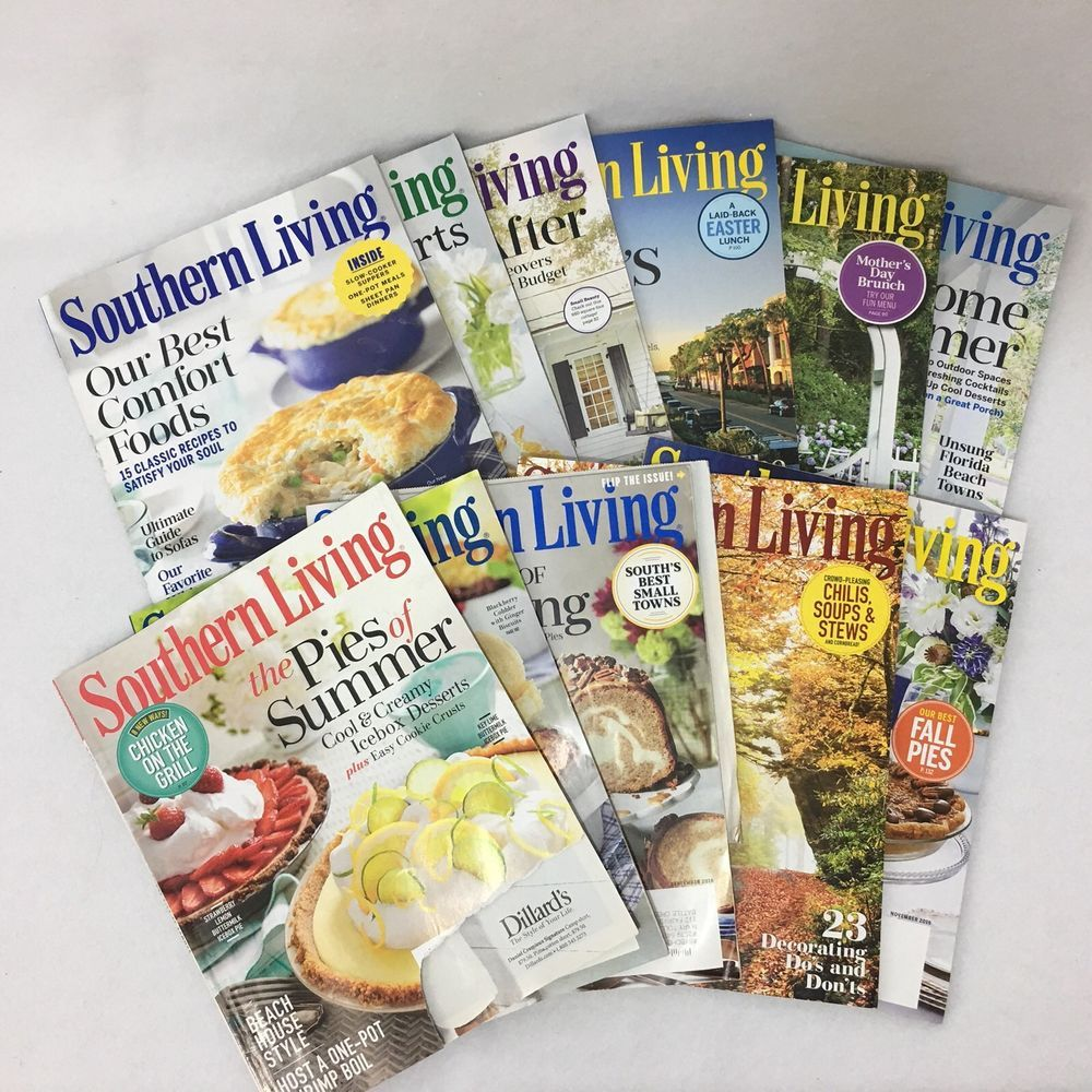 Lot Of 11 Southern Living Magazines 2015 2016 2017 Comfort Food Back Issues