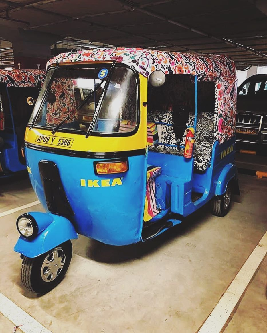 Riding On These Funky Autorickshaws Swedish Furnishing Brand Ikea Is All Set To Make Its Way Into Indian Homes These Multicol Ikea Quirky Design Indian Homes