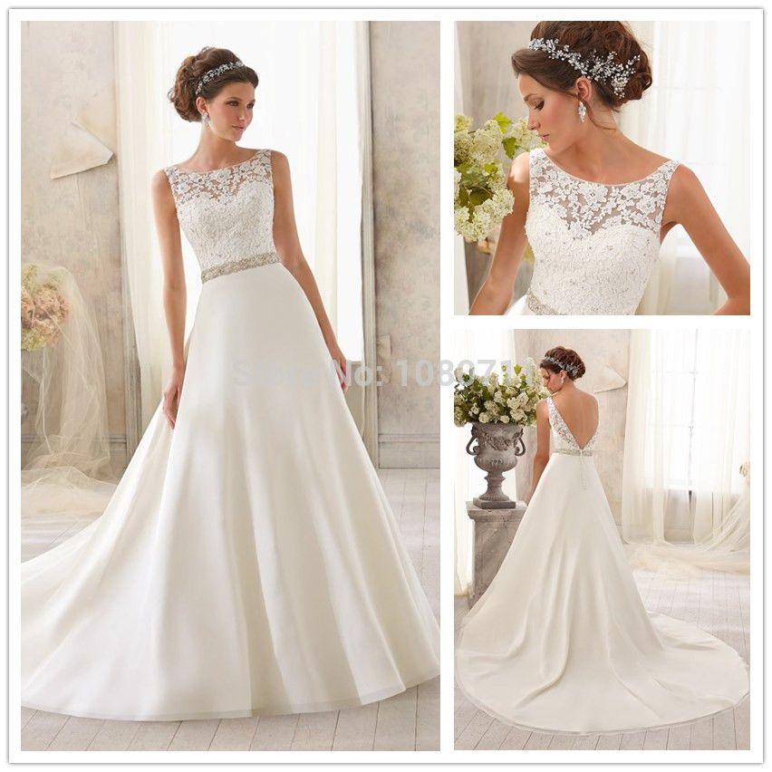 vestidos de novia con escote en la espalda - Buscar con Google