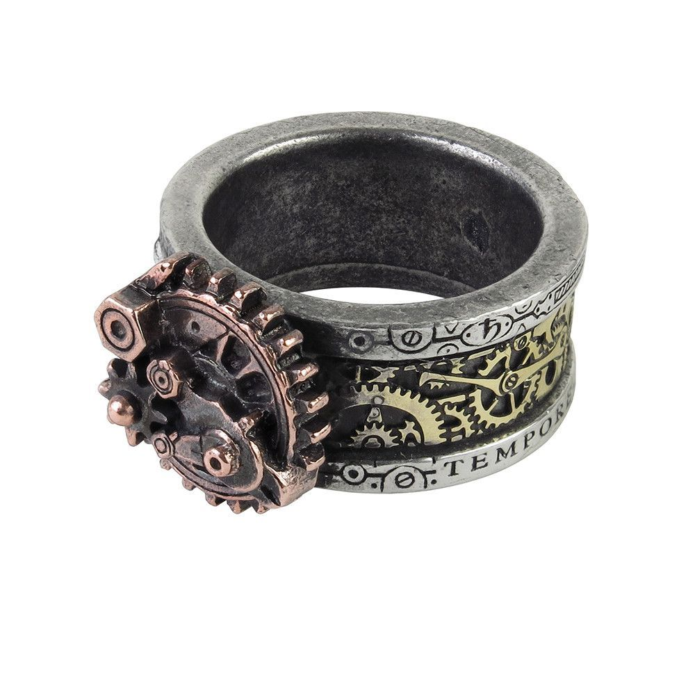 Alchemy Gothic Quanta Mechanica Cosmonatallogy Ring Steampunk A rare and ingenious devise for quantifying the duration of an individualÂ?s transcendent life, as well as calculating the precise time of