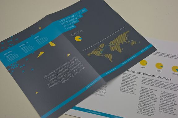 Investment Company Brochure Template  His Professional Corporate