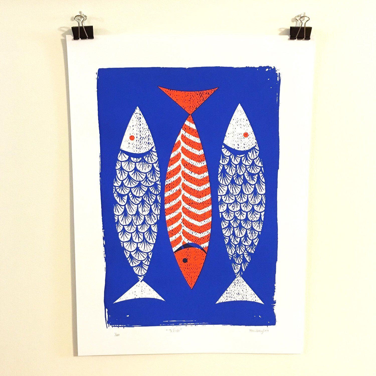 Just finished this new hand pulled silkscreen art print