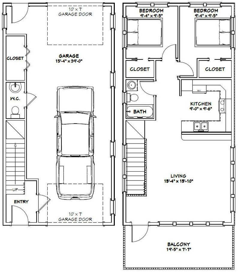 20x40 House 2 Bedroom 1.5 Bath 859 sq ft PDF