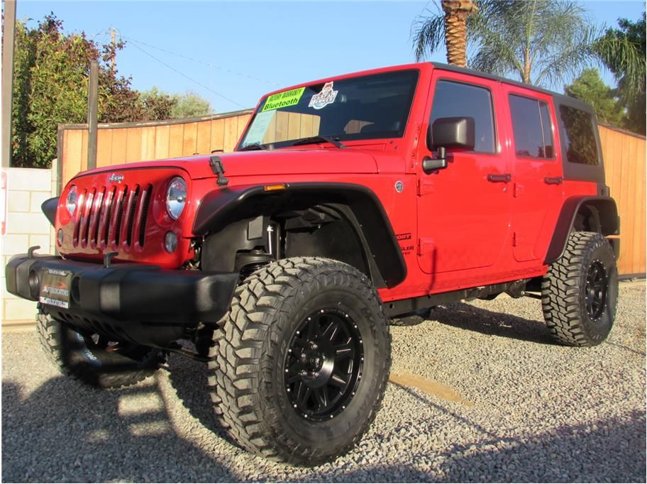 2014 Jeep Wrangler Unlimited 4door Red JEEP 2014