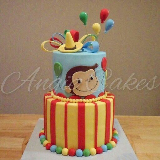 Superb Curious George Birthday Cake With Images Curious George Funny Birthday Cards Online Sheoxdamsfinfo