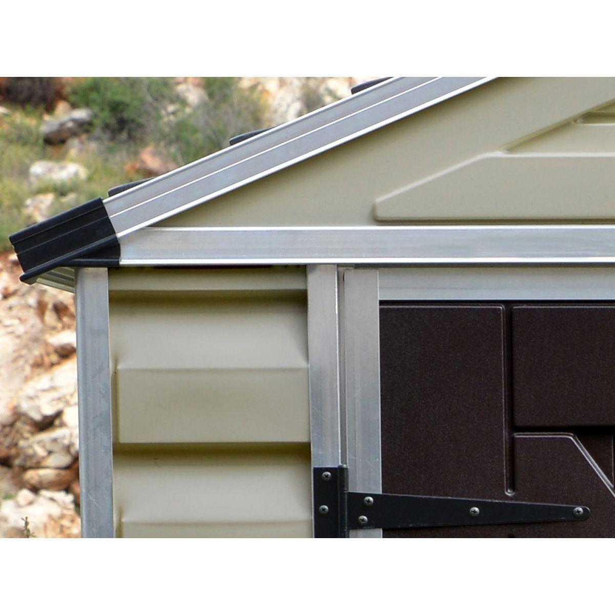 Abri De Jardin Polycarbonate Skylight 4 25 M2 Marron Taille Taille Unique Abri De Jardin Jardins En Bois Et Porte Battante