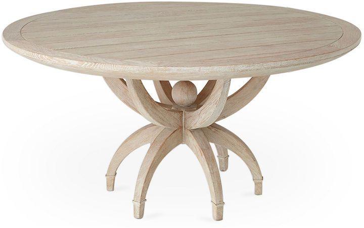 Global Views Klismos 60 Dining Table Whitewash With Images