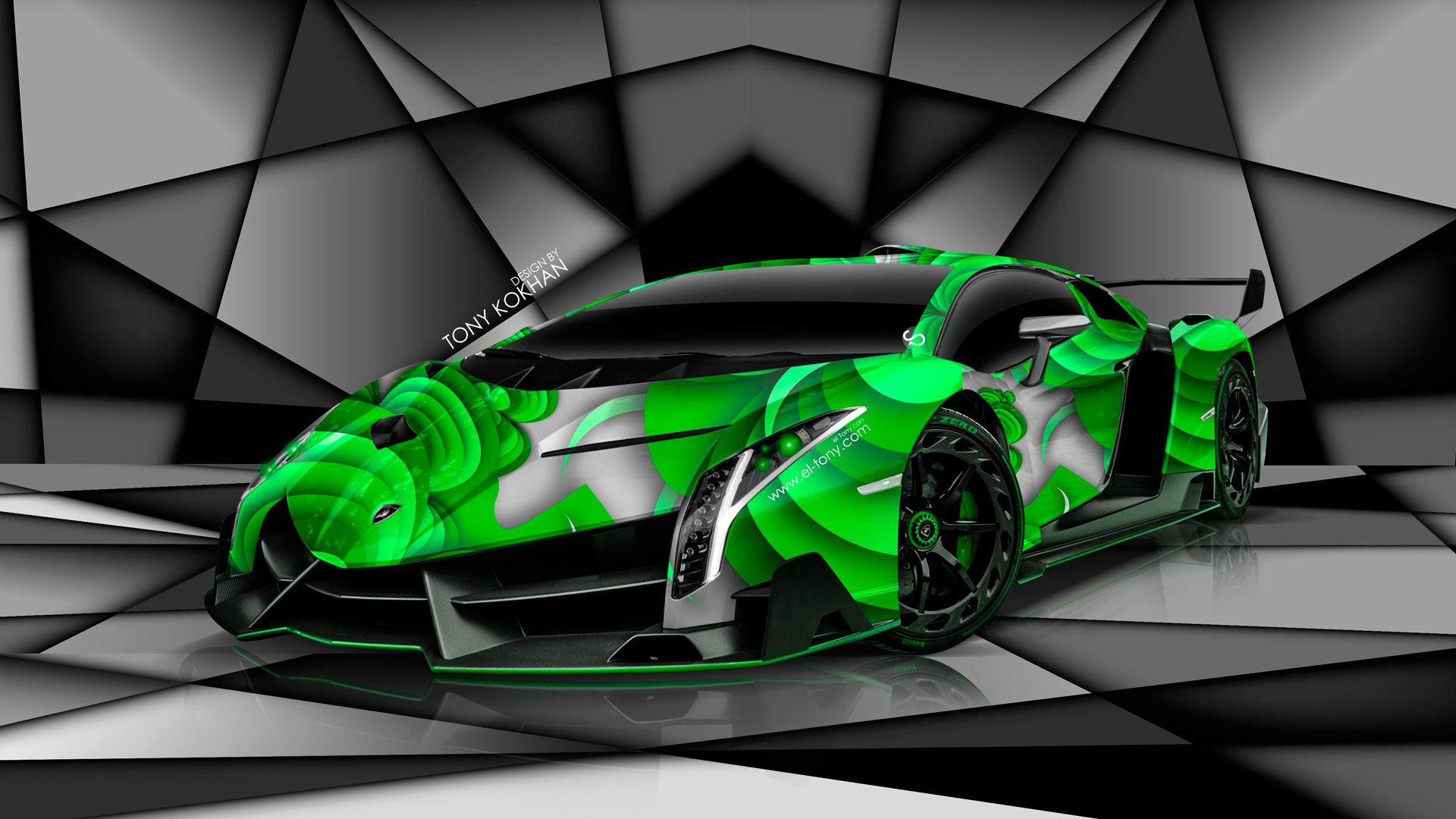 Lamborghini Veneno Green Wallpaper Free | Meglátogatandó ...