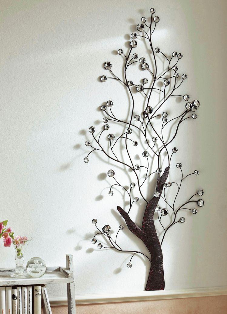 wandbild baum metall wandbilder bilder. Black Bedroom Furniture Sets. Home Design Ideas