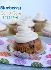 Blueberry Carrot Cake Cups on MyRecipeMagic.com. These are close enough to a delicious muffin!