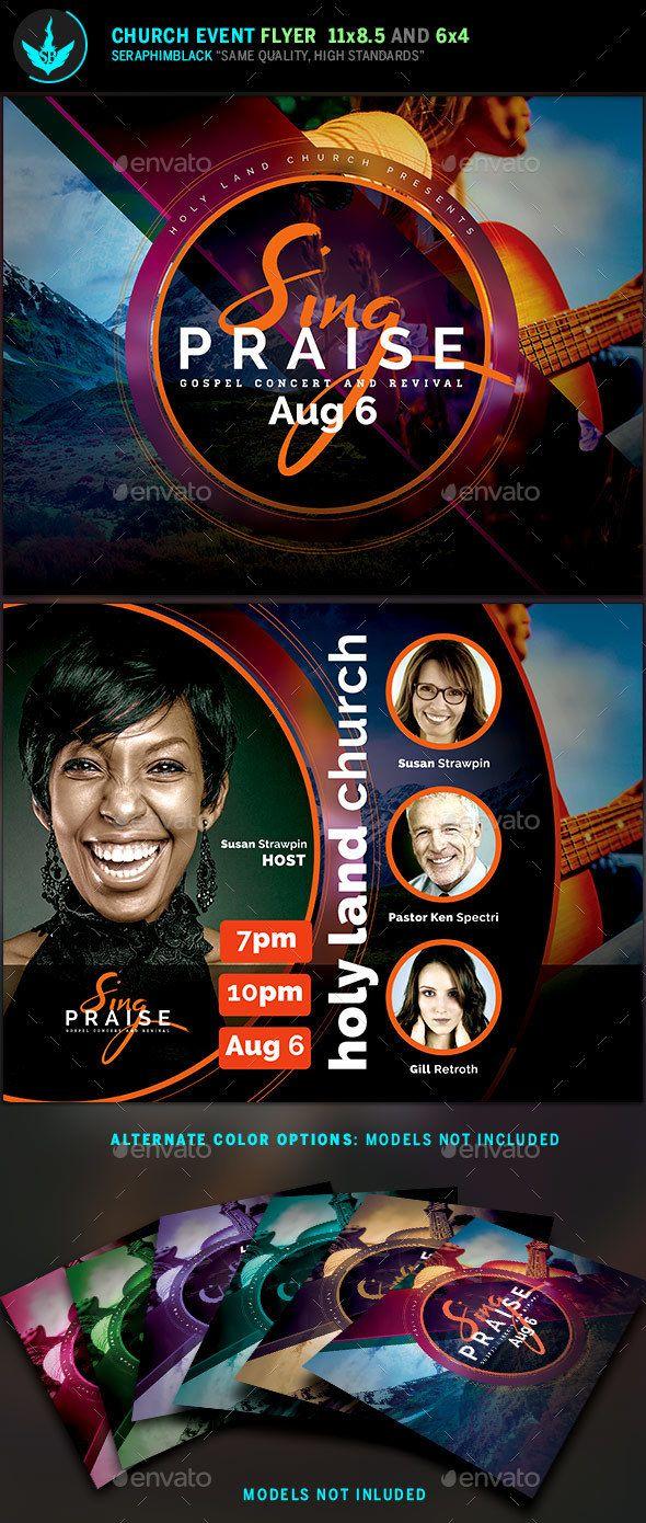 Sing Praise Gospel Concert Flyer Template  Gospel Concert