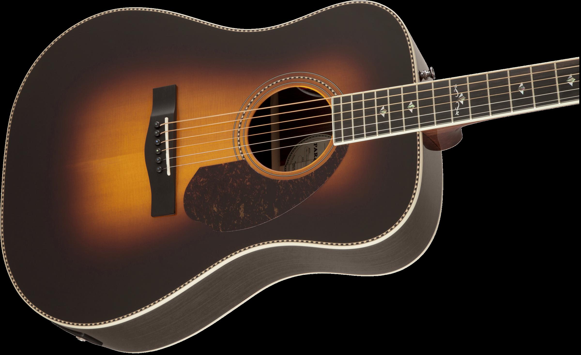 Pm 1 Deluxe Dreadnought Vintage Sunburst Dreadnought Acoustic Guitars