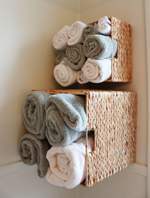 15 Fantastic Bathroom Towel Storage Ideas Small Bathroom Storage Small Bathroom Organization Bathroom Organization Diy