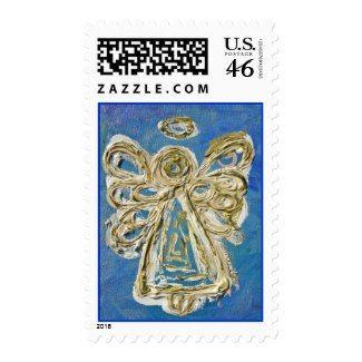 Blue Angel Postage Stamp stamp