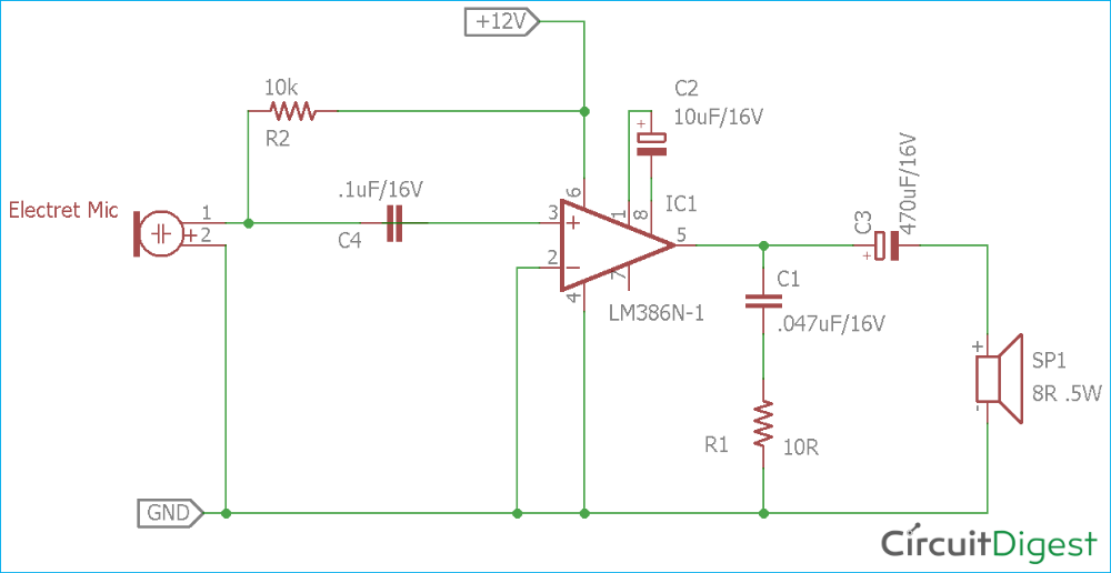 Image Full View | Circuit Digest | Microphone, Circuit