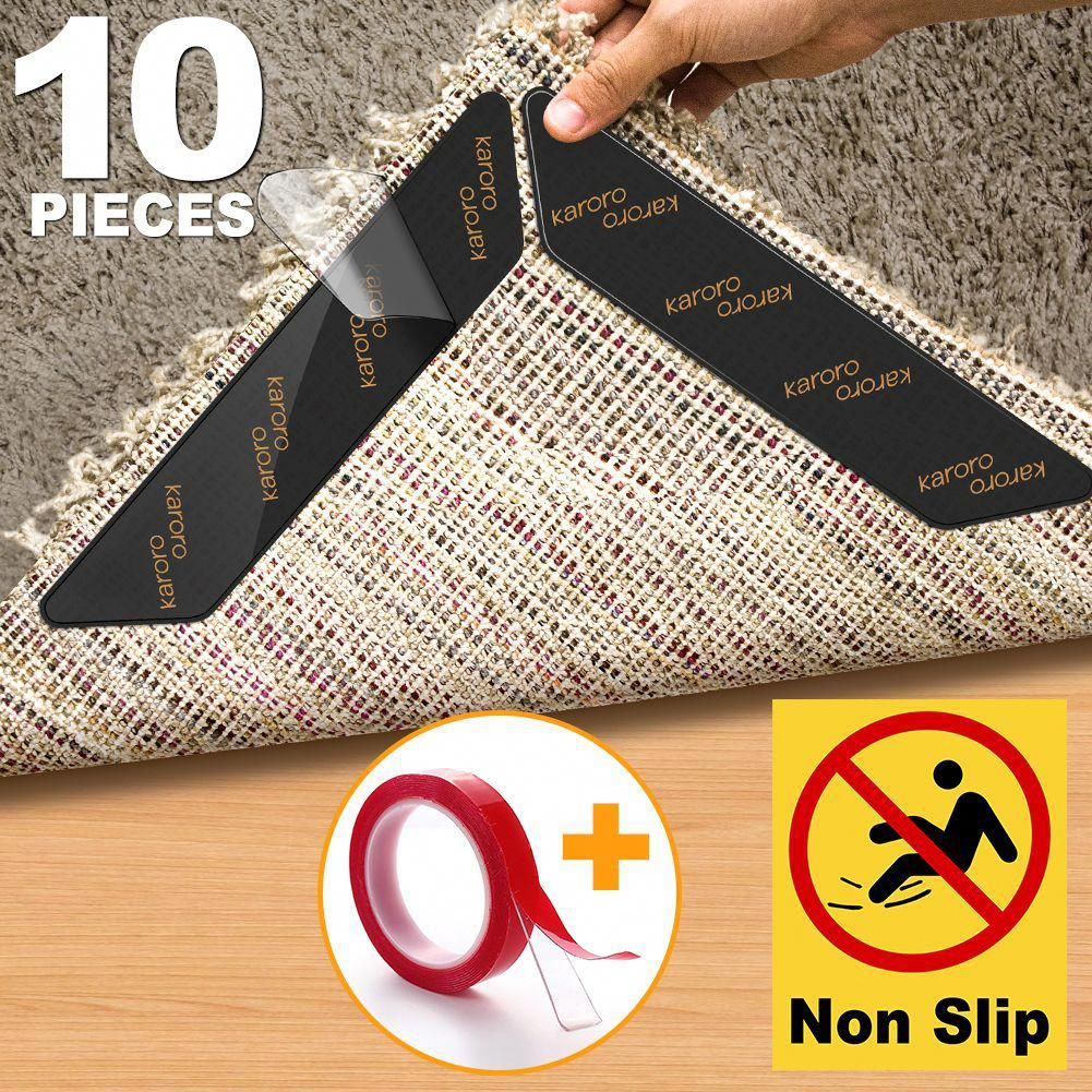 Rug Gripper Karoro 10pcs Anti Curling Large Size Carpet Sticker Slip