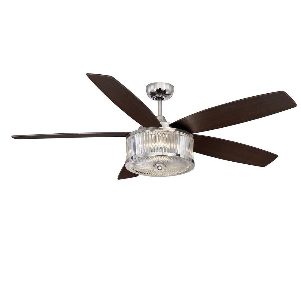 Filament Design 56 In Led Indoor Outdoor Polished Nickel Ceiling Fan Ceiling Fan Ceiling Fan
