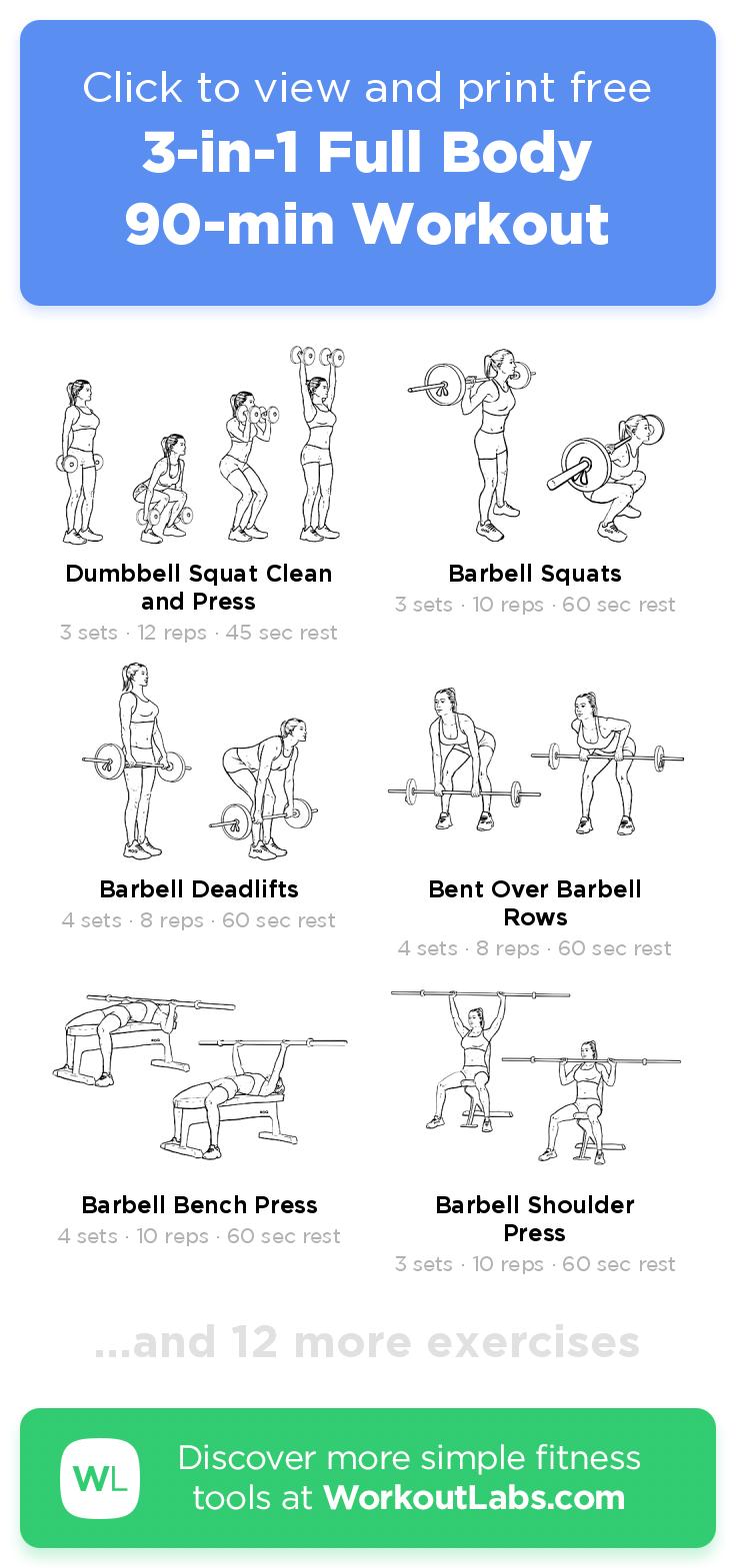 3-in-1 Full Body 90-min Workout