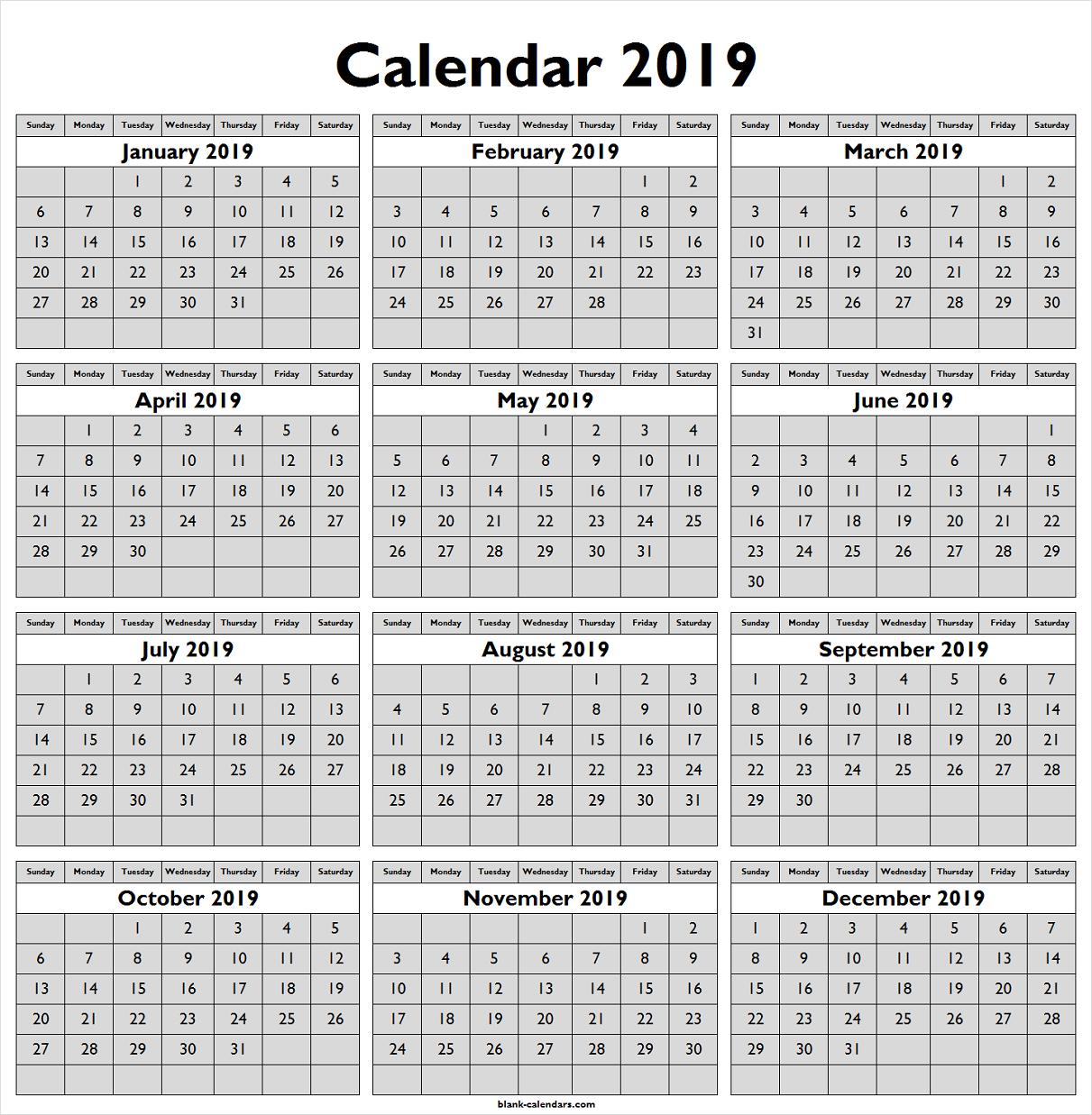 Calendar 2019 Png Free Download Calendar Free Calendars To Print Calendar 2019 Template