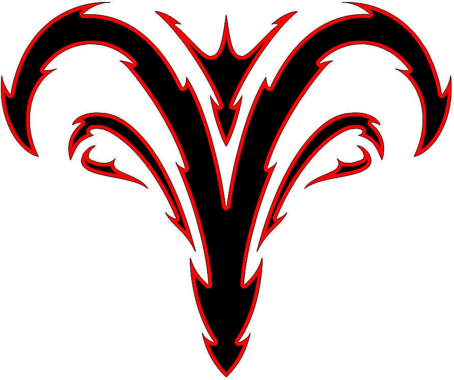 Red and Black Designs Red And Black Tribal Aries Zodiac