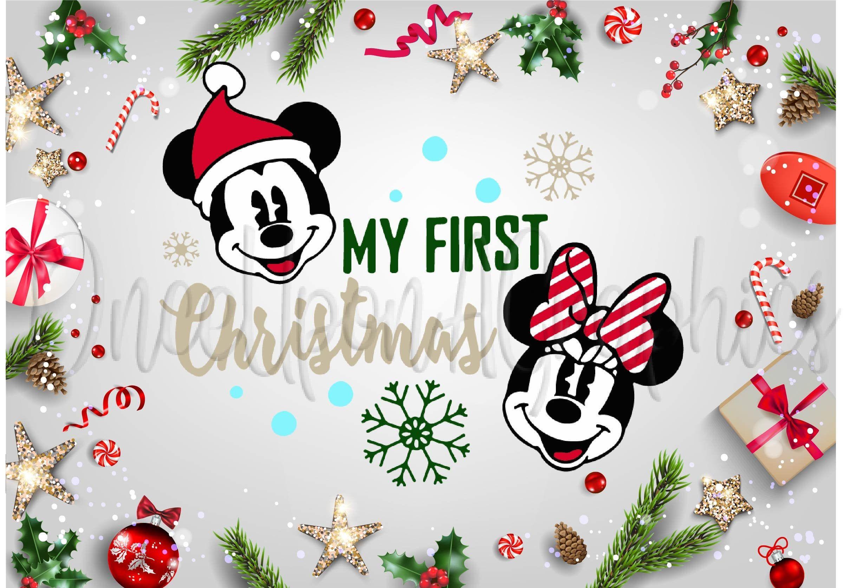 Disney My First Christmas svg, Mickey, Minnie, Disney