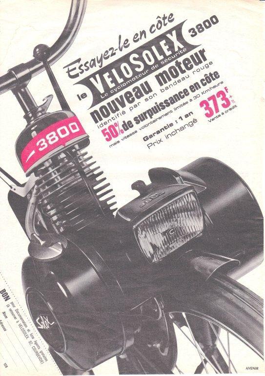 velosolex 3800 cyclomoteur gallet moteur 2 temps refroidi par air graissage par m lange 2 pour. Black Bedroom Furniture Sets. Home Design Ideas