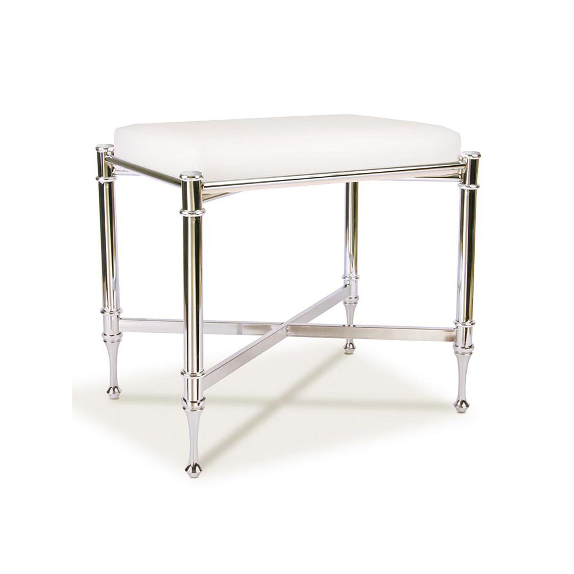 Taymor Estate Vanity Bench Grey Vanity Stool Vanity