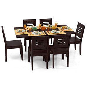 Admirable Danton Capra 6 Seat Folding Dining Table Set Mahogany Pdpeps Interior Chair Design Pdpepsorg