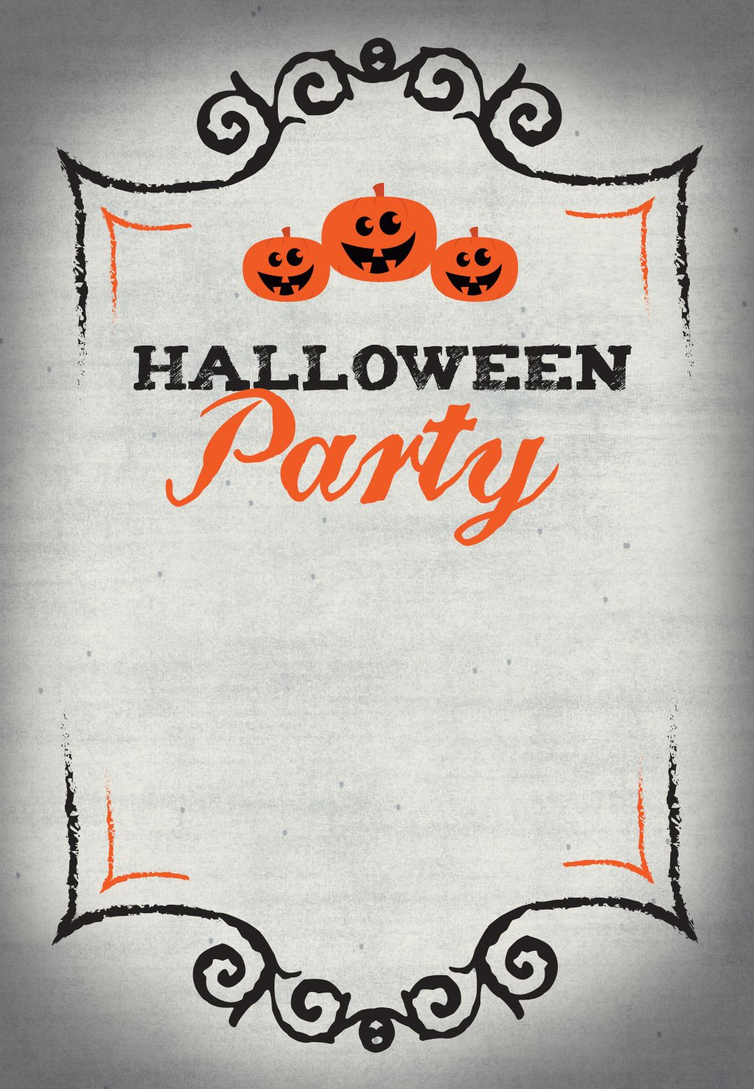 This is a graphic of Candid Free Halloween Invitation Templates Printable