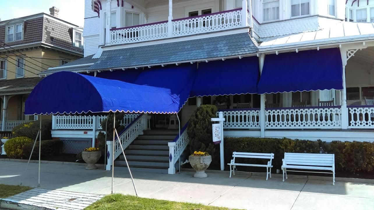 Canopy And Awning Installation By Bill S Canvas Shop In Cape May Nj Awning Installation Awning Canopy