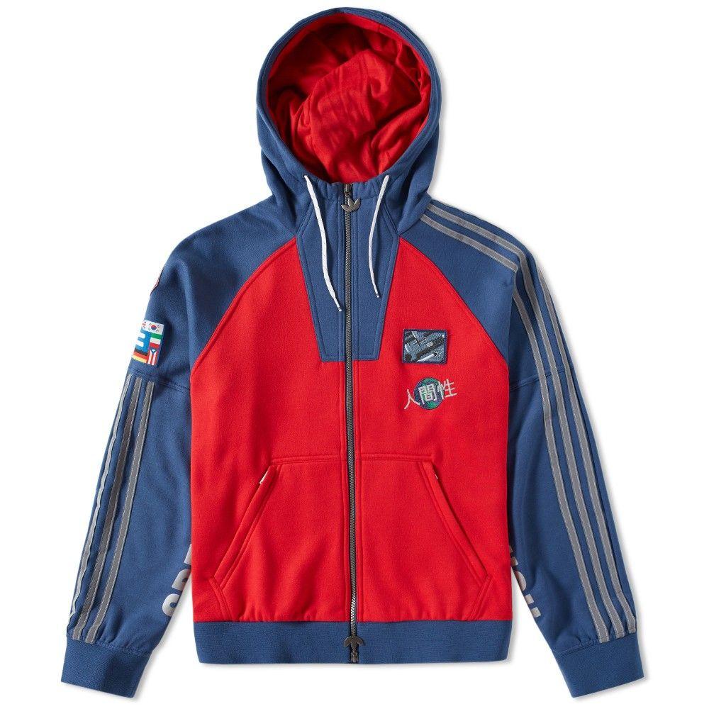 c38385c8e Adidas x Pharrell Williams Human Race Zip Hoody (Red   Navy)