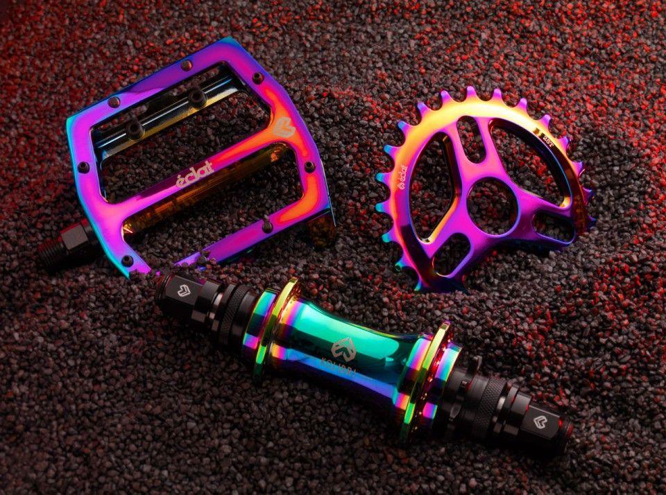 Eclat's oil slick parts Bmx bike parts, Bmx, Bmx dirt
