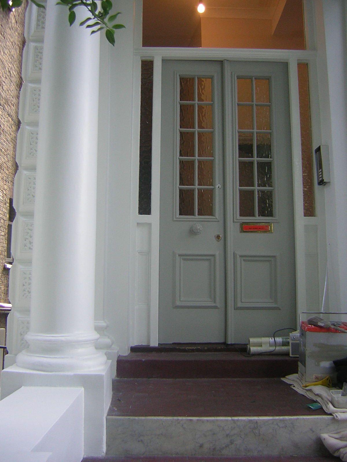 Front double door in kensington,uk Double entry doors