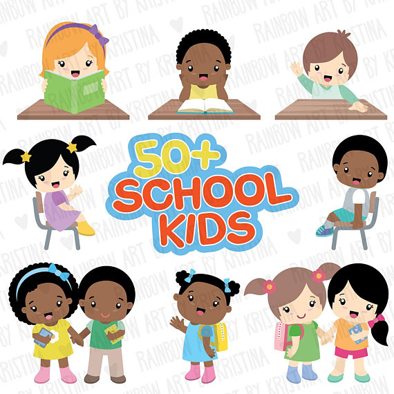 50 Off School Children Clip Art School Supplies Clipart