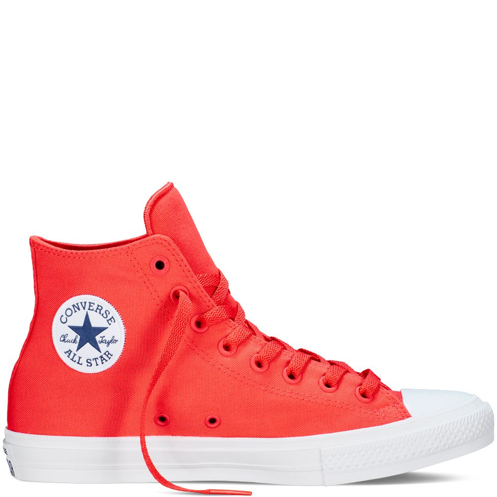 f457bc10a26 Chuck Taylor All Star II Neon Corail red navy white