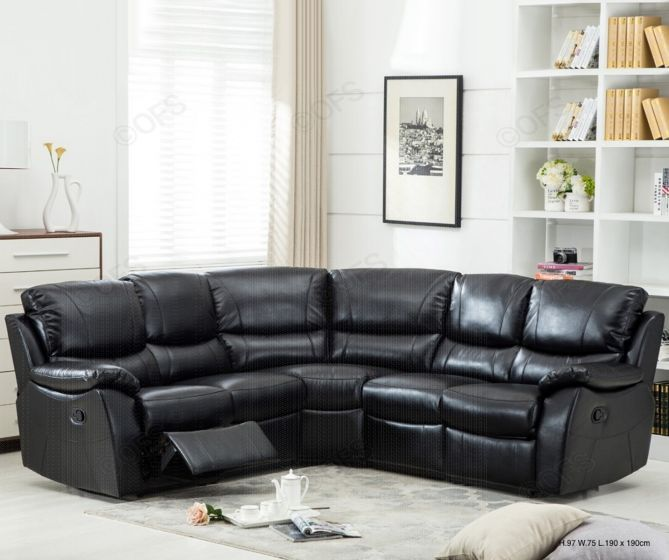 Annaghmore Swindon Two Tone Brown Leather Corner Sofa ...