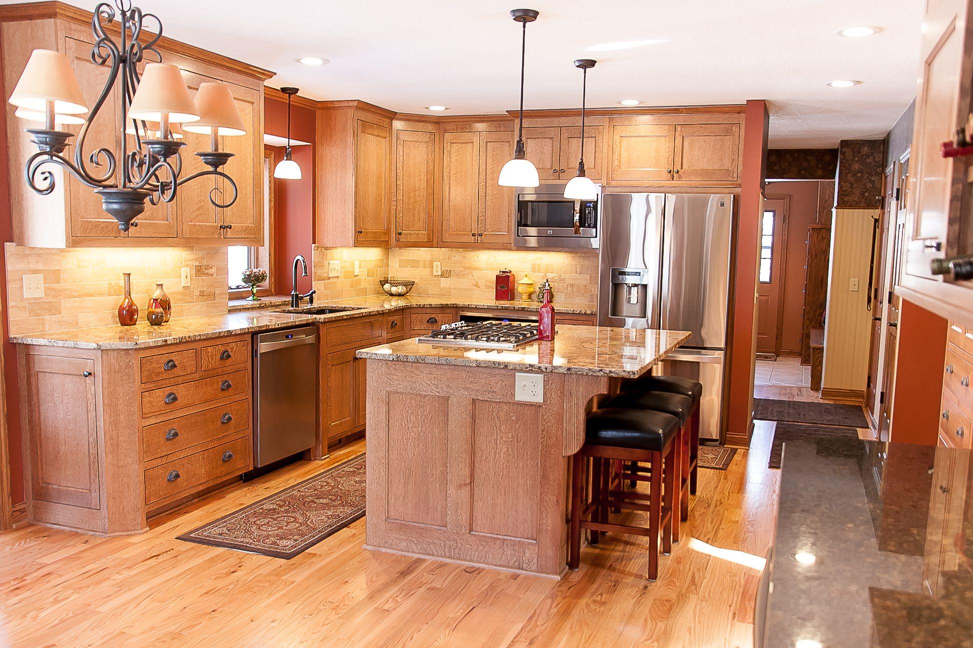 Quarter Sawn Oak Kitchen Cabinetry Natural Finish Oak Kitchen Home Remodeling Kitchen Cabinetry
