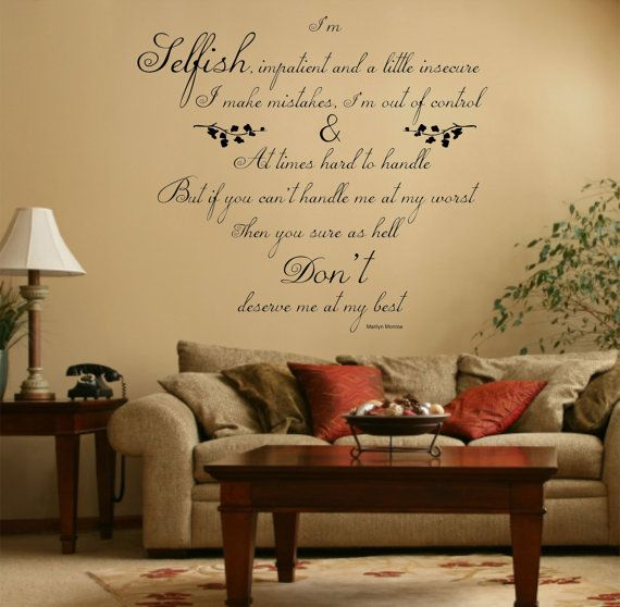 Marilyn Monroe Quote Vinyl Wall Art Sticker Decal by Purrfic | Room ...