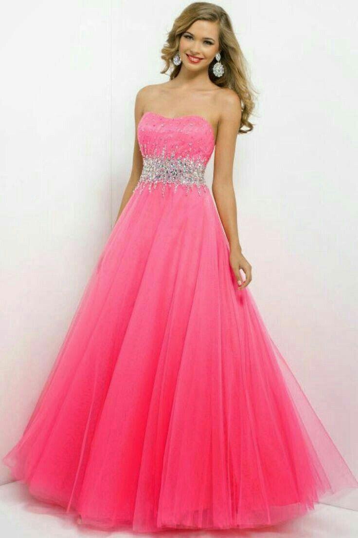 Vestido de 15 anos rosa com brilho | Vestidos | Pinterest | Prom ...