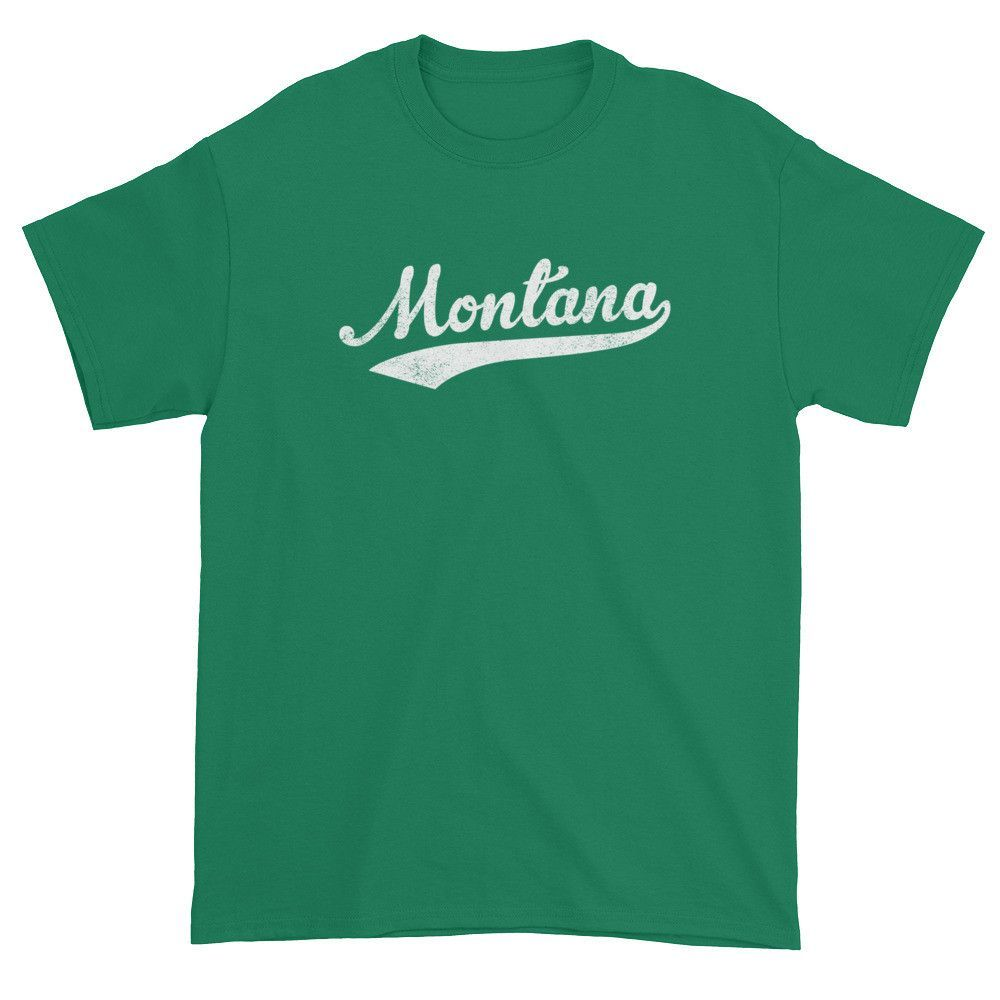 Vintage Montana Mt T Shirt With Script Tail Design Adult Products