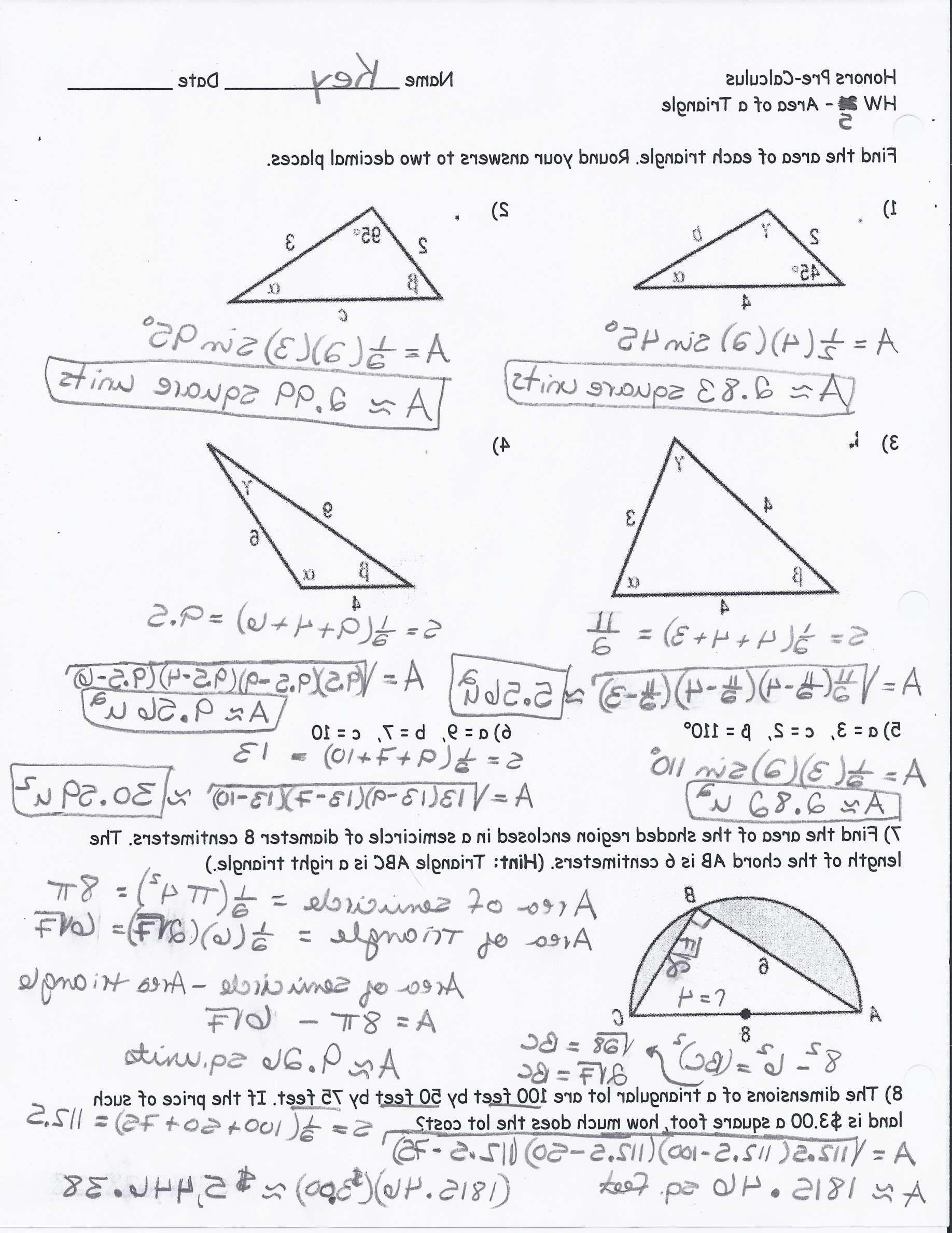 11 Right Triangle Trigonometry Worksheet Work