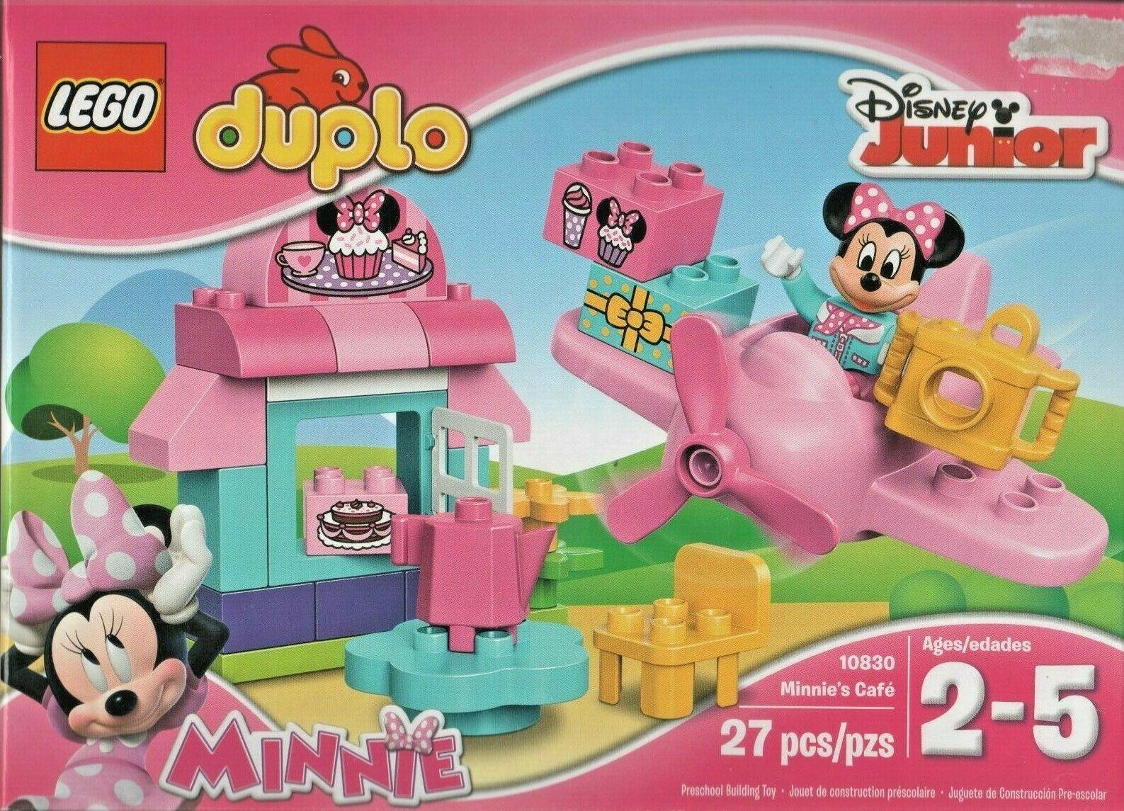 Lego Duplo Minnie Mouse Minnie S Cafe Disney Junior 10830 New No Canadian Duties Ebay Minnie Mouse Toys Lego Duplo Preschool Toys