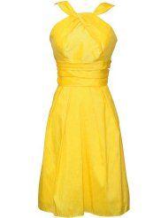 halter dress, knee length