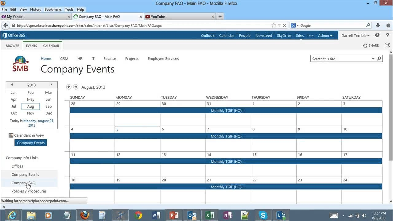 Sharepoint Intranet Video Demonstration For Sharepoint For Office