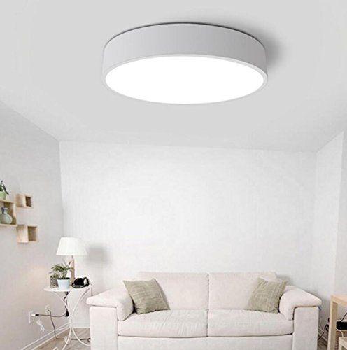 AYAYA-Badlampe-Deckenleuchte-Deckenlampe-Wei-Flache-Led-Decke - holz boden und decke modern interieur