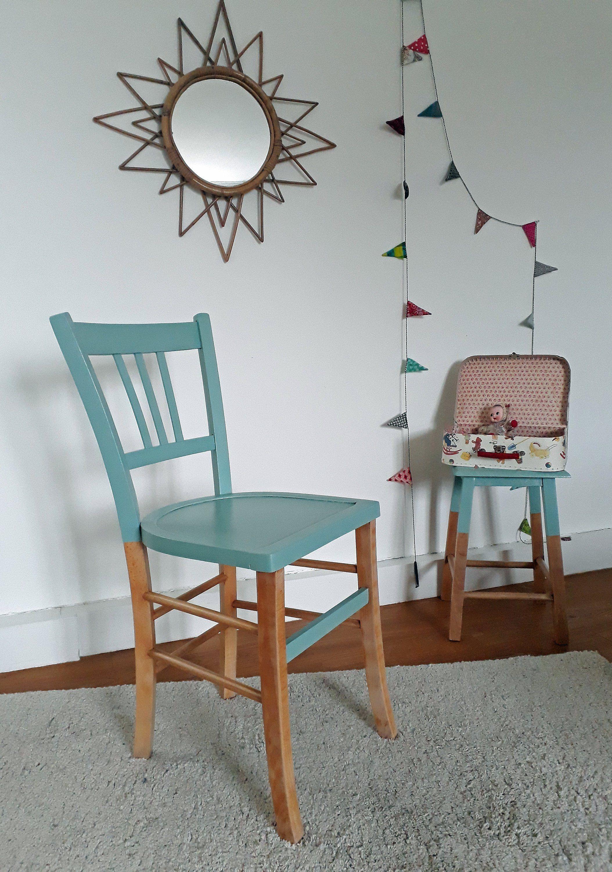 Chaise Bistrot Vintage Annees 60 Revisitee Vert Mint Home Decor Furniture Decor