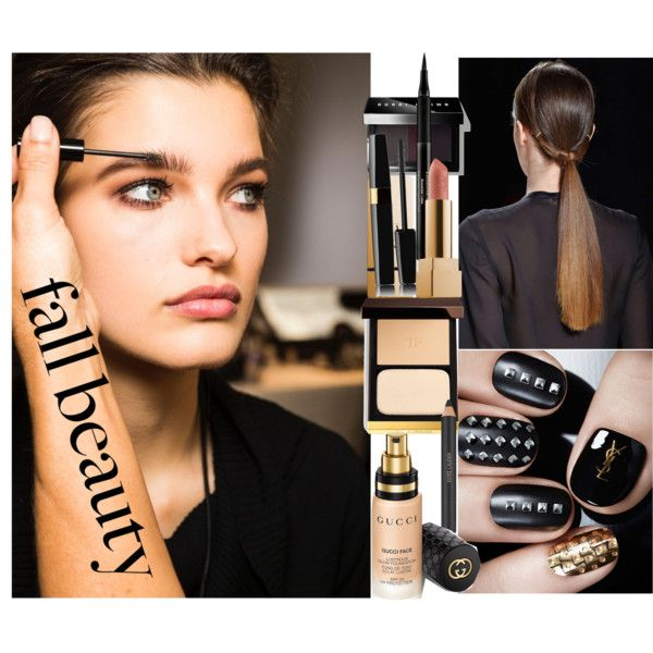 Fall Beauty Routine by coppin-s on Polyvore featuring beauty, Tom Ford, Gucci, Bobbi Brown Cosmetics, Elizabeth Arden, Estée Lauder and Yves Saint Laurent