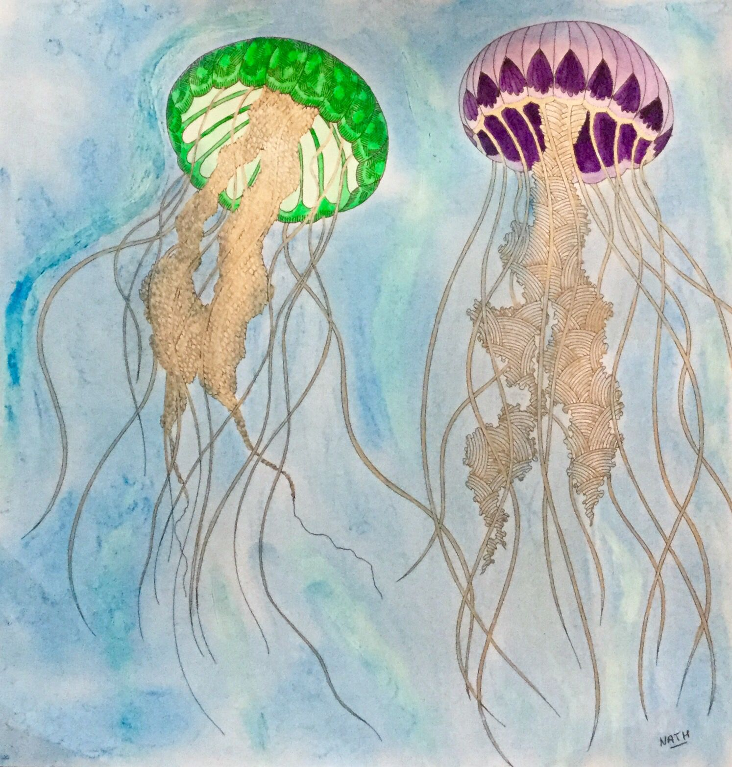 My Colouring Millie Marotta Jellyfish